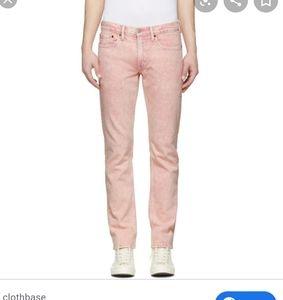 Men's Levis 511 slim acid wash pink jeans